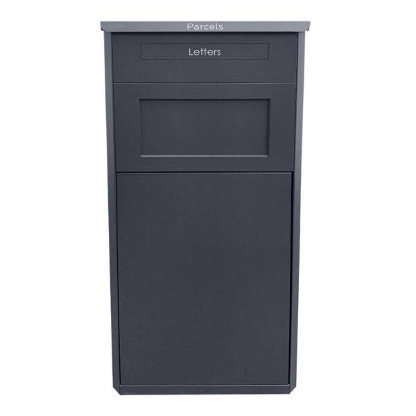 The large grey parcel drop box
